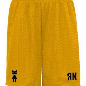 Yellow RN Mesh Shorts